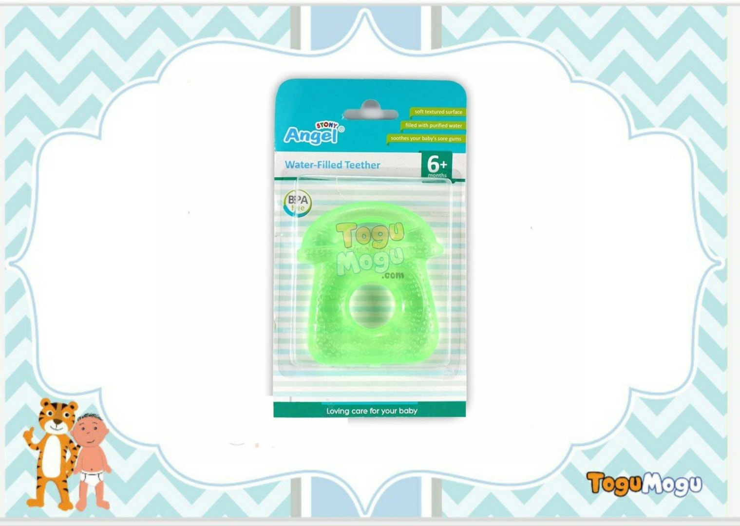 Angel Telephone Shaped Water Filled Teether
