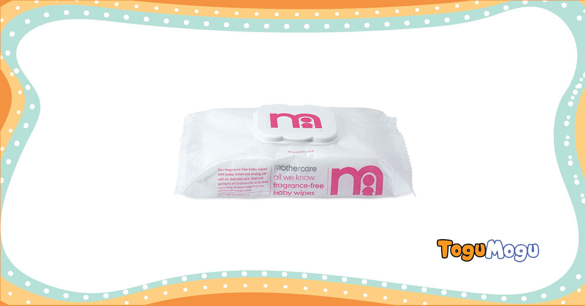 Mothercare baby wipes (60pcs)