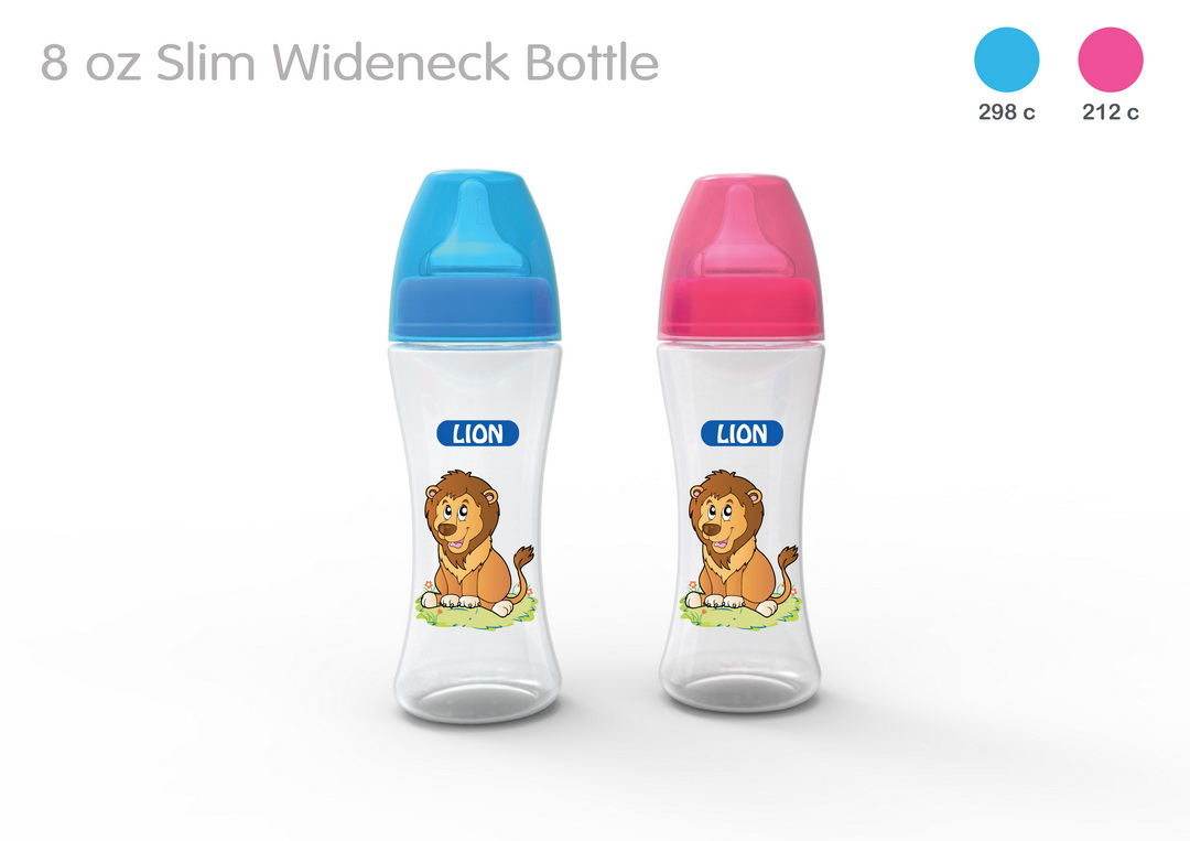 LION WIDE NECK FEEDER 8 OZ 250 ML (BPA FREE) 1 PC BOX