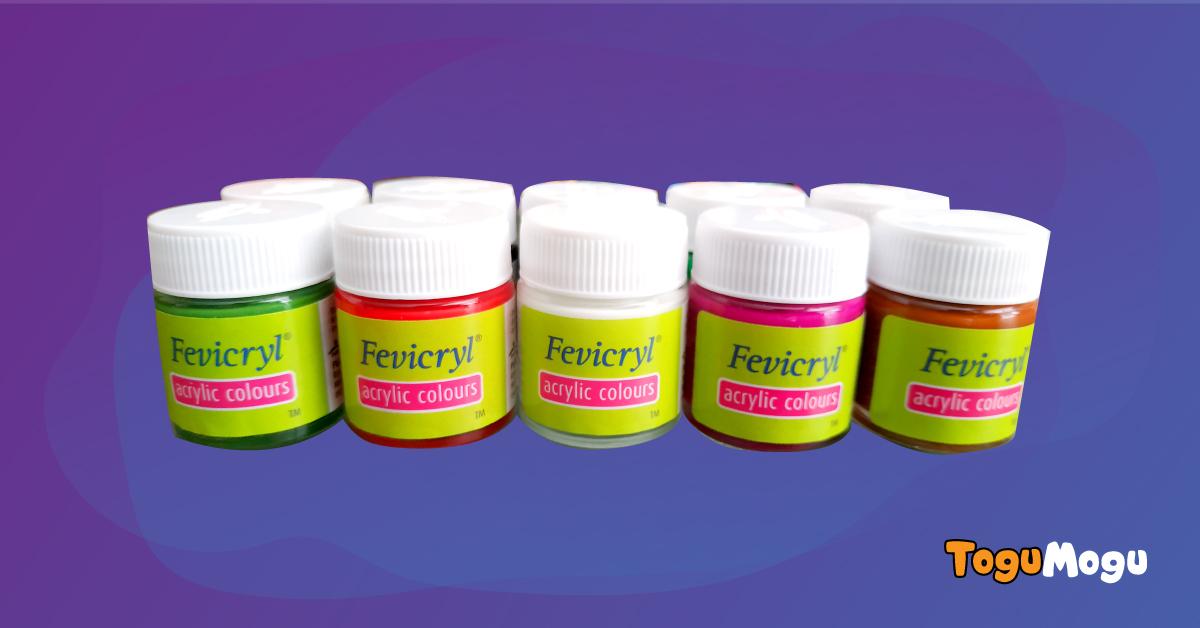 Fevicryl Acrylic Colours (10pcs)