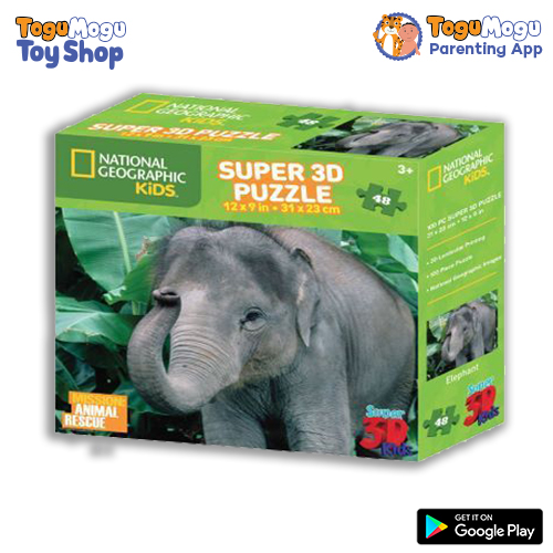 National Geographic 10509 Jigsaw Elephant 3D Puzzle