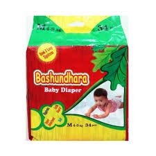 Bashundhara Baby Diaper Belt M (4-9 kg) 34 pcs
