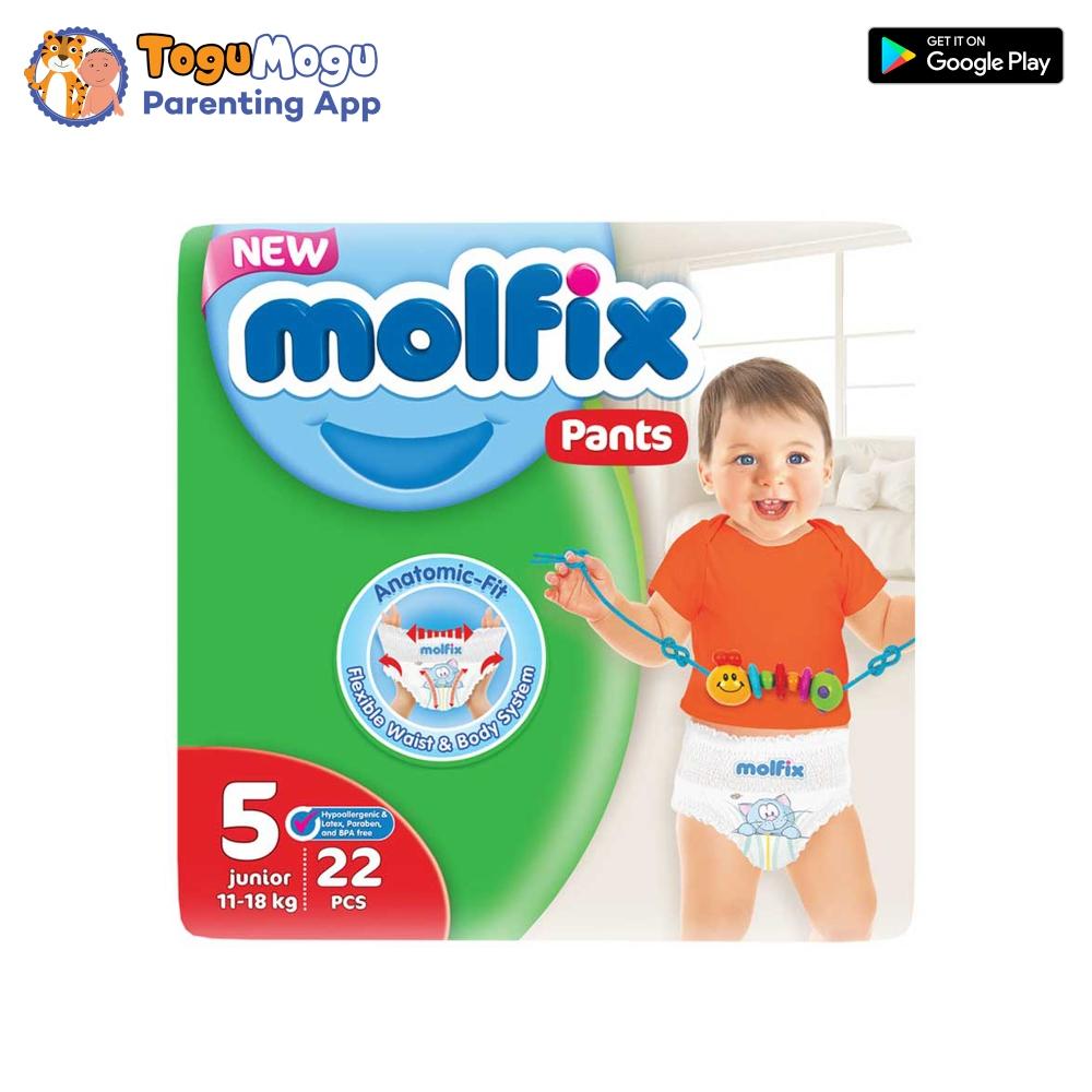 MOLFIX Pants Diaper TWIN Extra Large 11-18kg 22 pcs