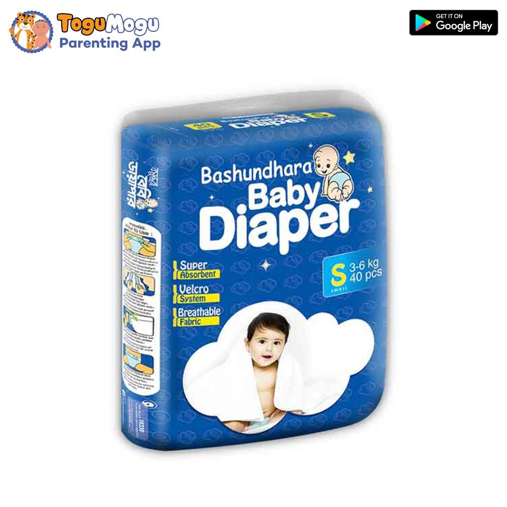 Bashundhara Baby Diaper S (3-6 Kg) 40 pcs