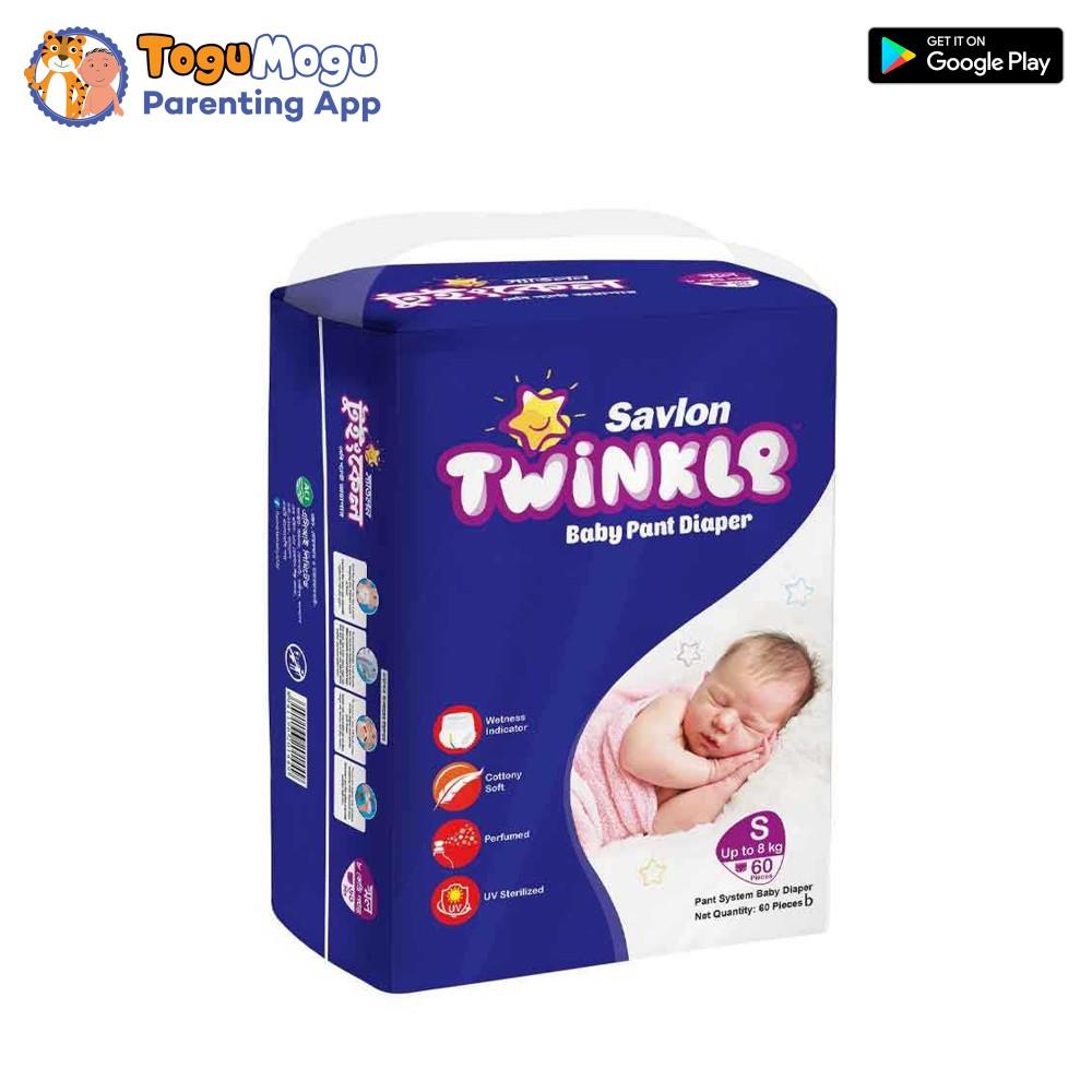 Savlon Twinkle Baby Pant Diaper S 8 kg  60s