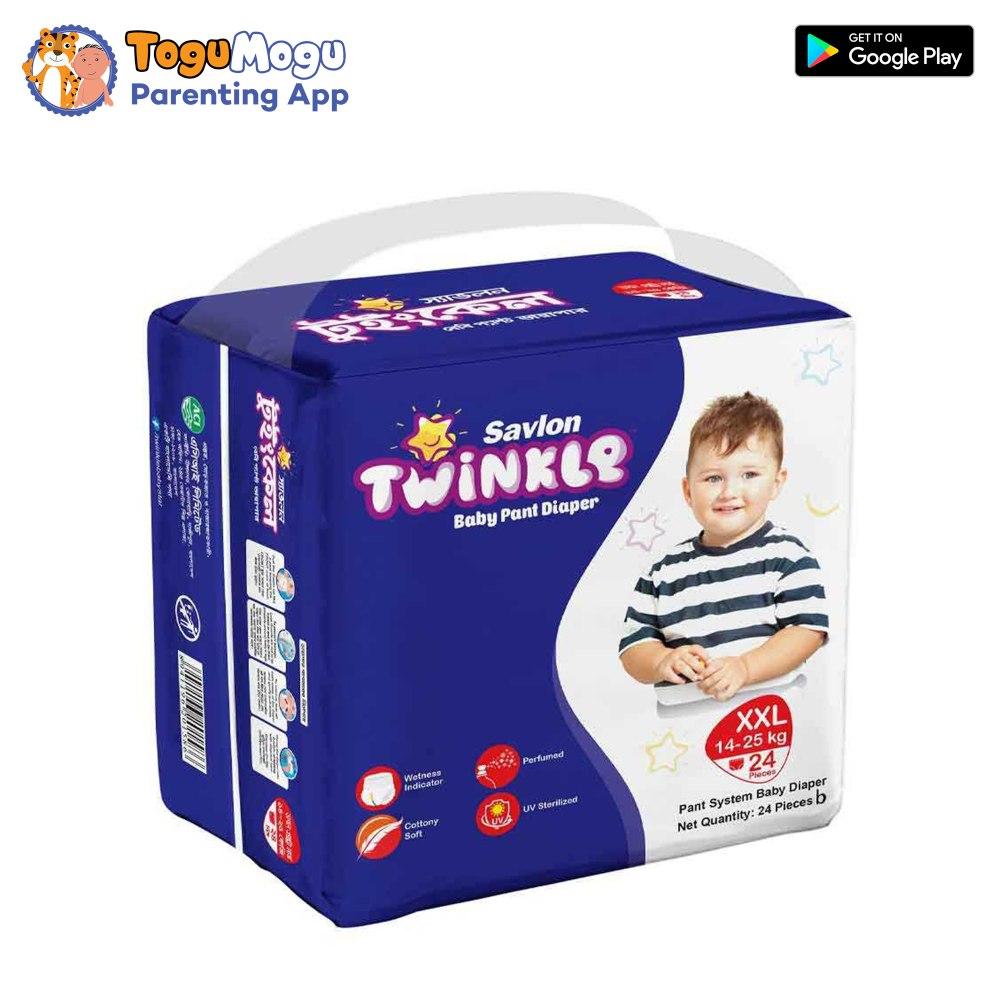 Savlon Twinkle Baby Pant Diaper XXL 14-25 kg  24s
