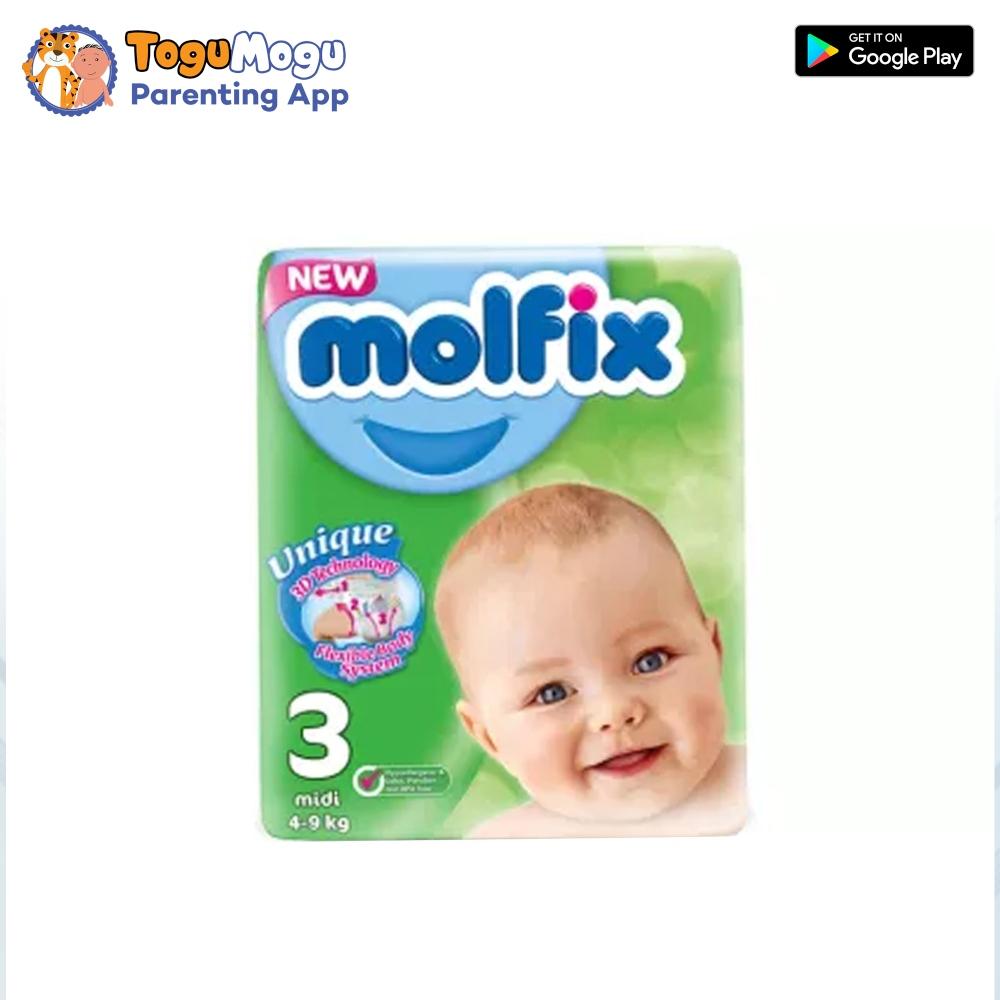 MOLFIX Belt Diaper Belt TWIN Midi 4-9kg 46 pcs