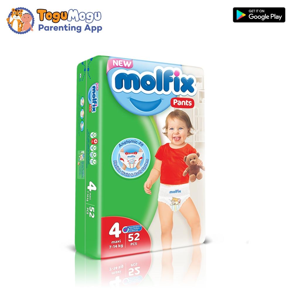 MOLFIX Pants Diaper JUMBO Large 7-14kg 52 pcs