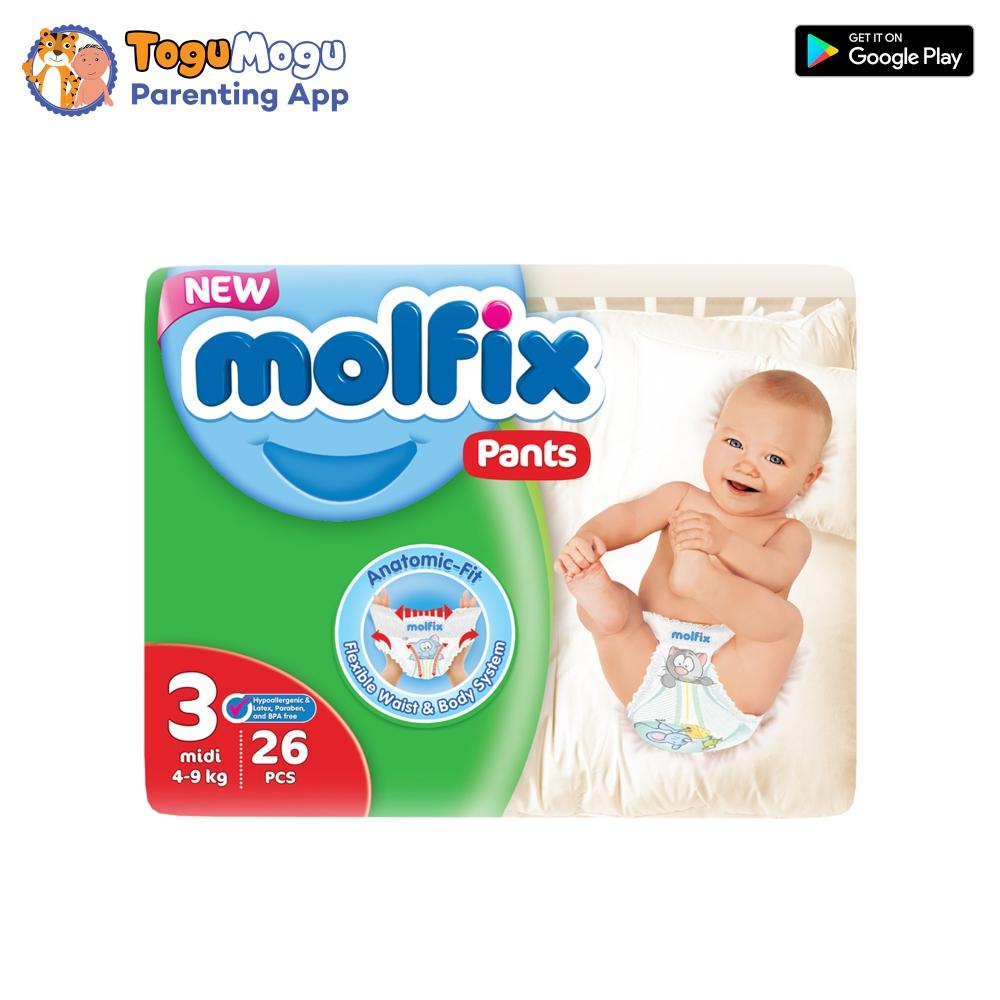 MOLFIX Pants Diaper TWIN Midi 4-9kg 26 pcs