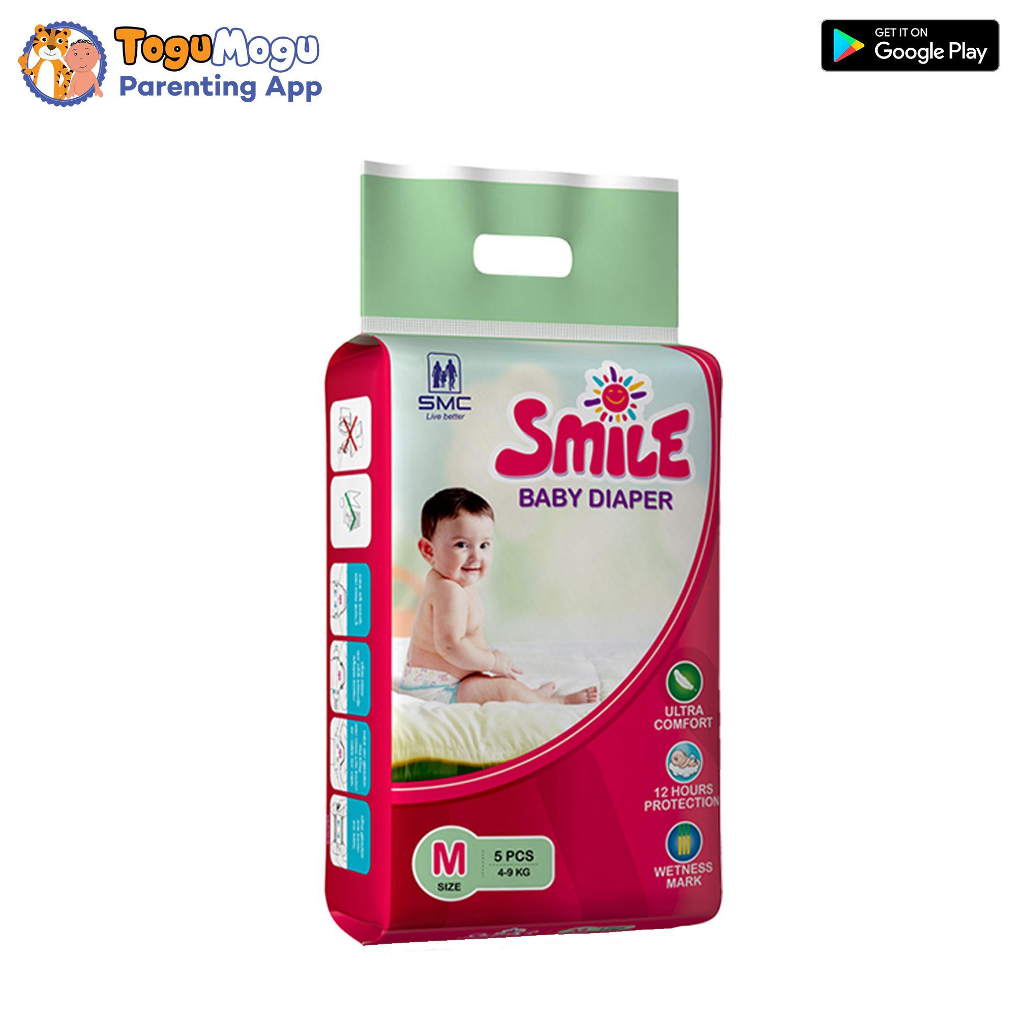 SMC Smile Baby Diaper Belt 4-9 kg M 5 pcs