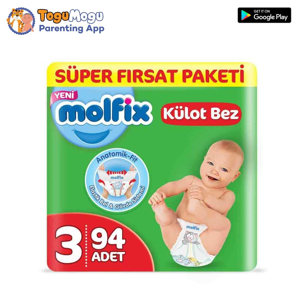 MOLFIX Pants Diaper SUPER ADVANCE Midi 6-11kg 94 pcs