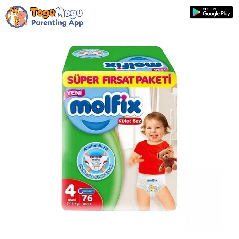 MOLFIX Pants Diaper SUPER ADVANCE Maxi 9-14kg 76 pcs
