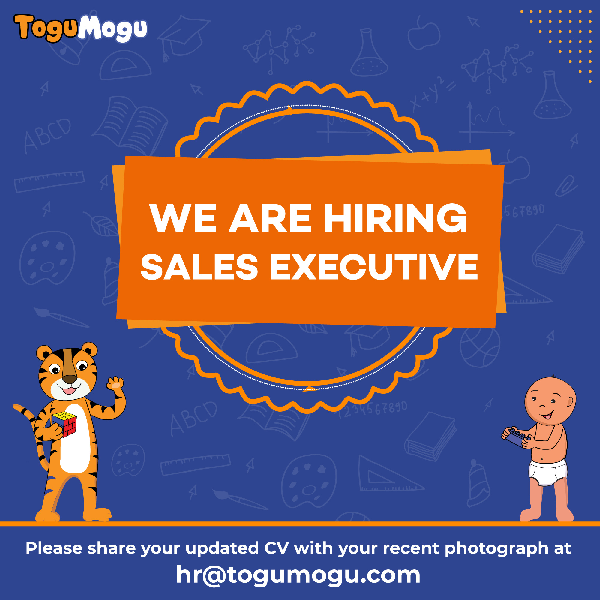 We are Hiring Sales Executive