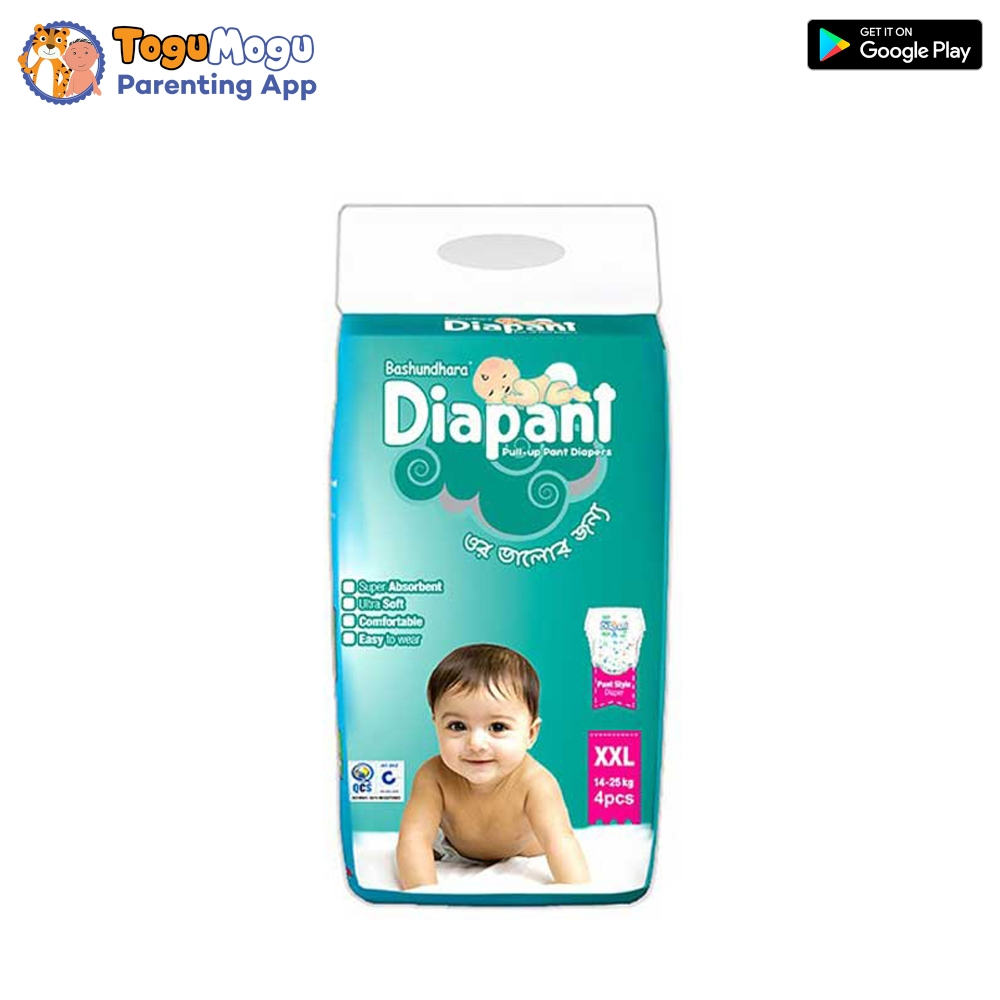 Bashundhara Baby Pant Diaper Pant XXL 14-25 kg -4 pcs