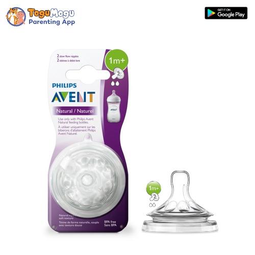 Avent Natural Nipple 1m+ (SCF 652/27)