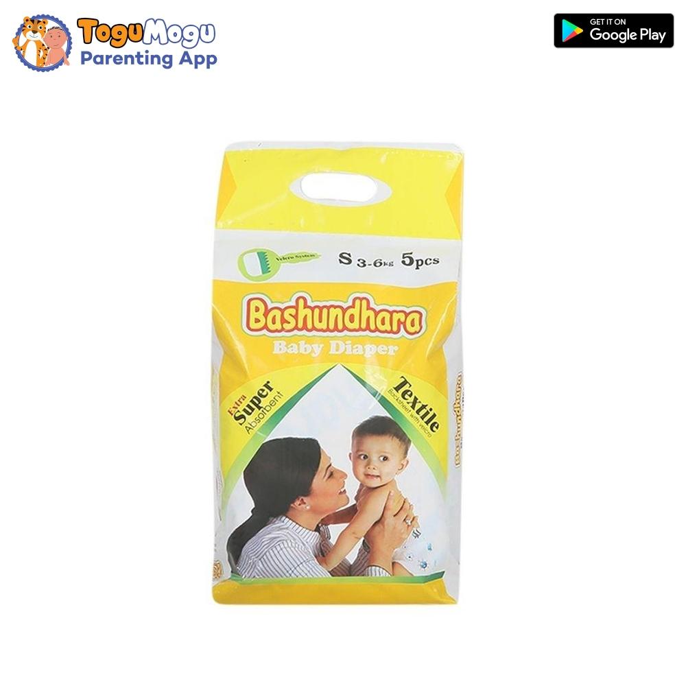 Bashundhara Baby Diaper Belt S (3-6 kg) 5 pcs