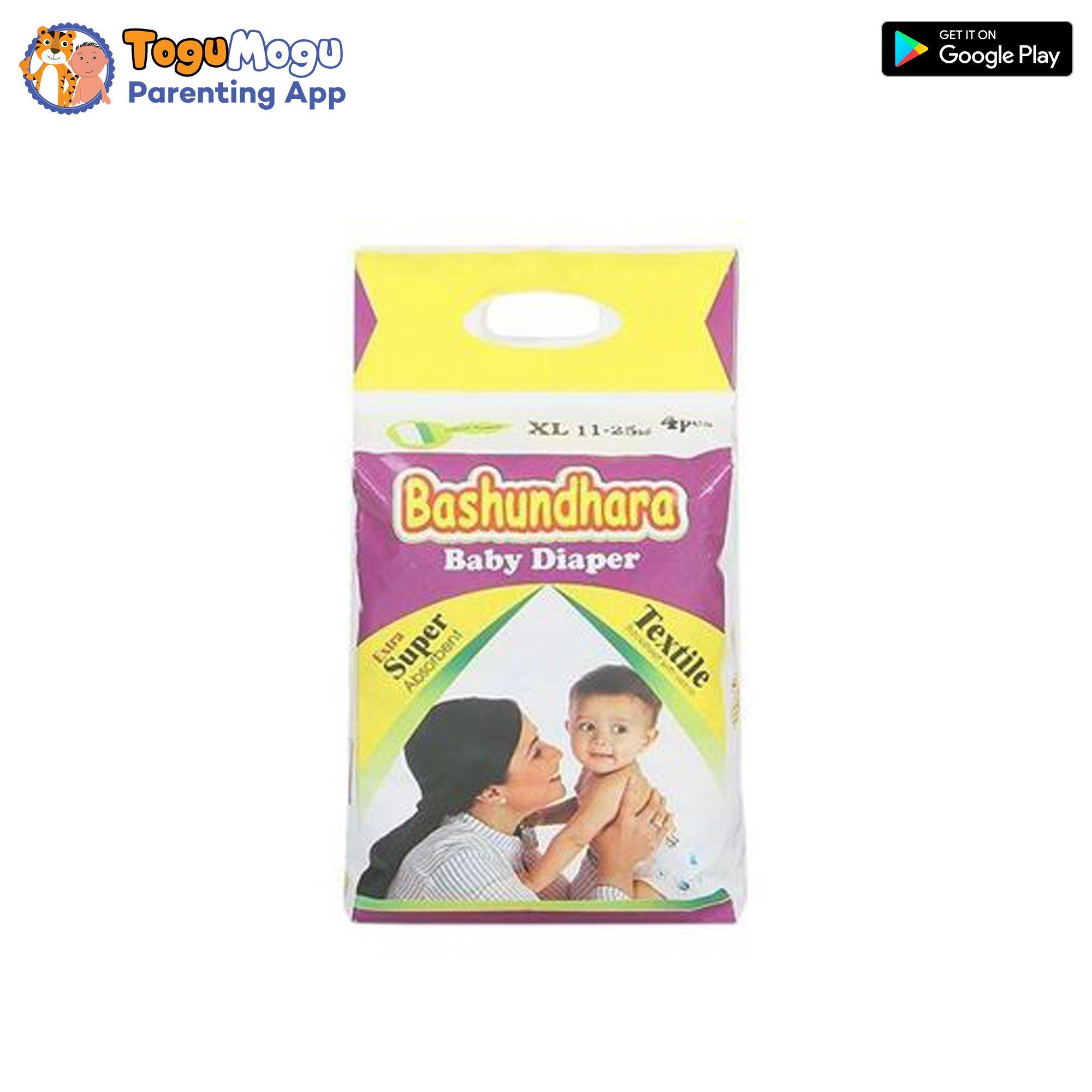 Bashundhara Baby Diaper Belt XL 11-25 kg 4 pcs