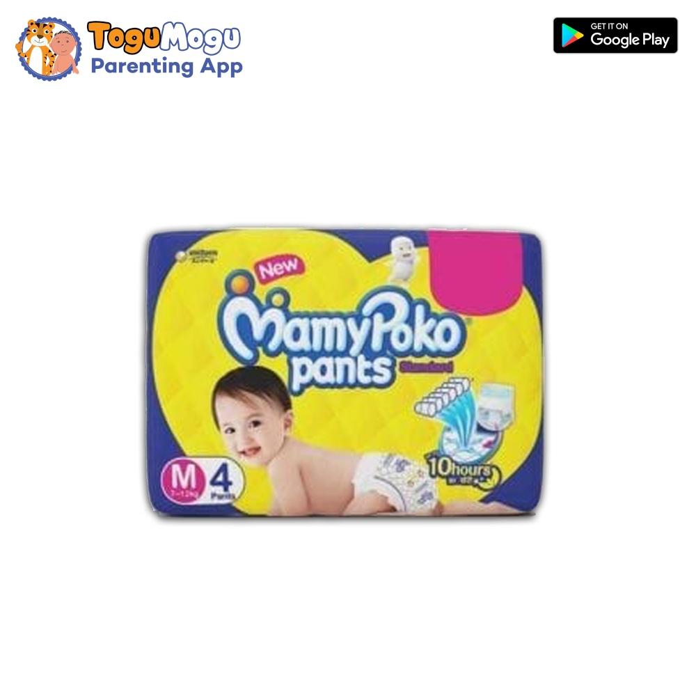 MamyPoko Pants M- 4 Pcs (7-12kg)