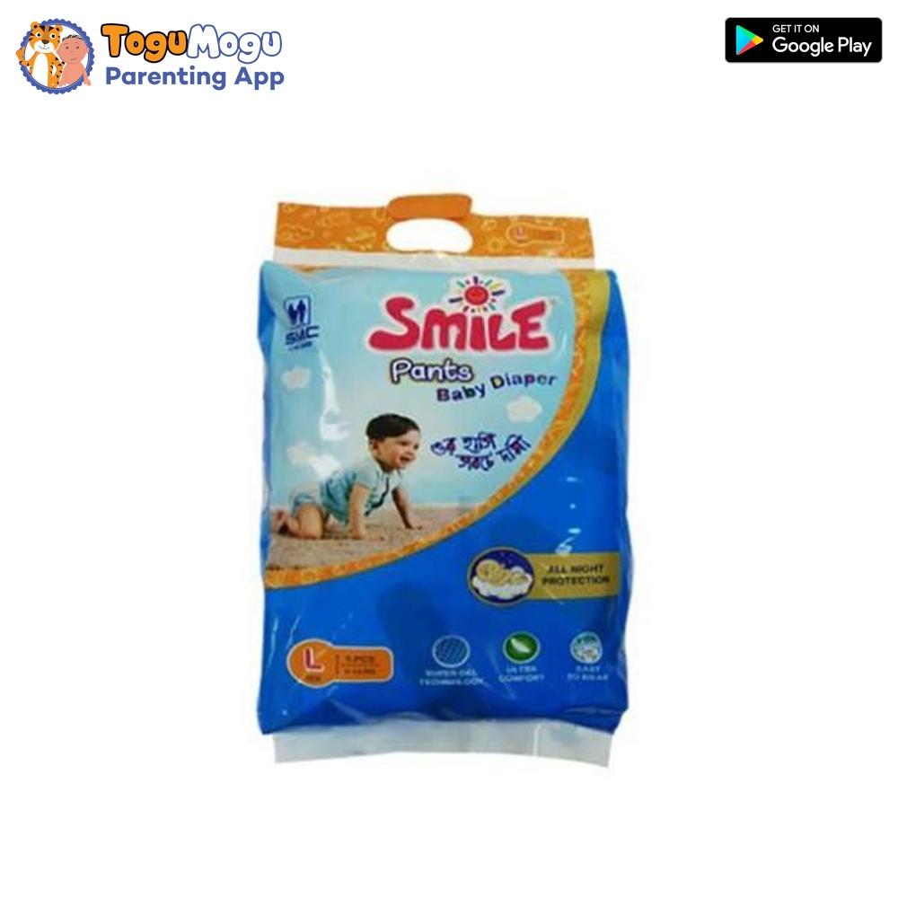 SMC Smile Baby Diaper Pant 9-14 kg (L) 5 Pieces
