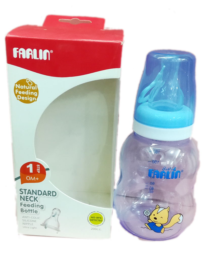 Farlin Standard Neck Feeding Bottle Clear M (NF-898) 200 CC