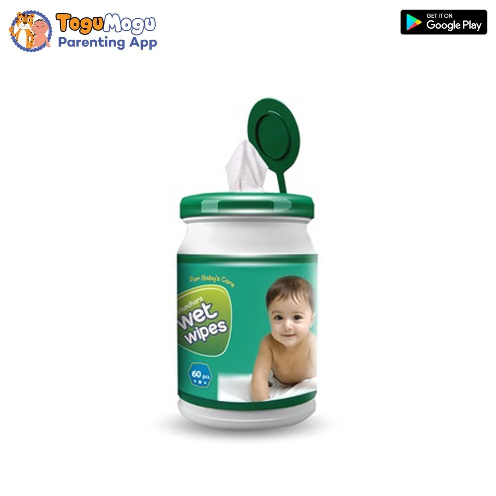 Bashundhara Baby Wet Wipes Jar 60 pcs