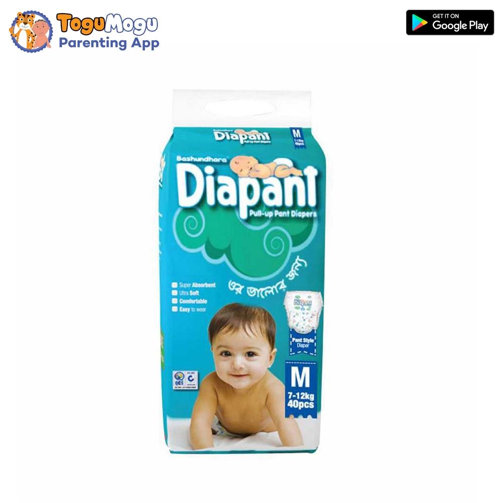 BASHUNDHARA BABY PANT DIAPER PANT M SIZE 7-12 KG – 5 PCS
