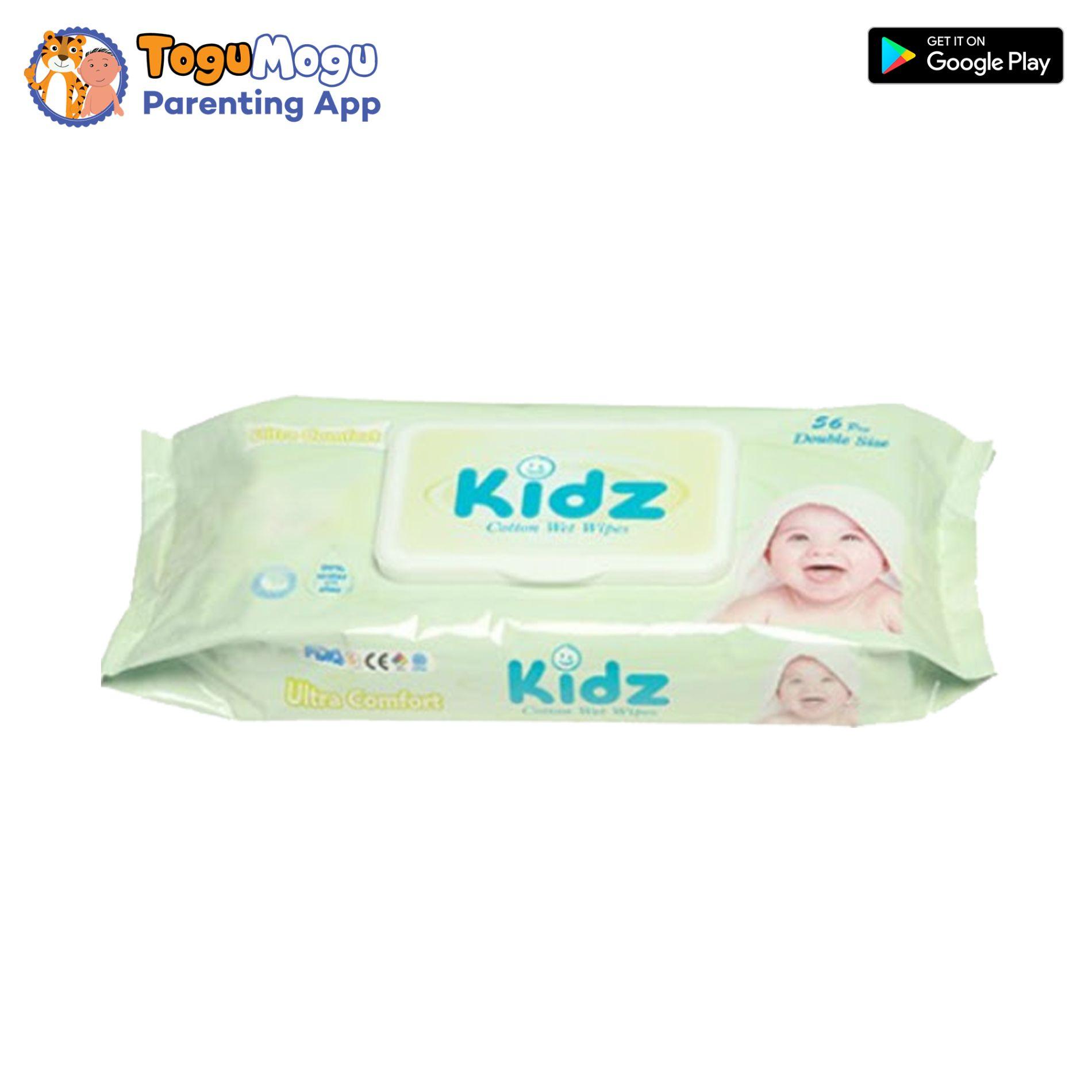 Kidz Cotton Wet Wipes 56pcs