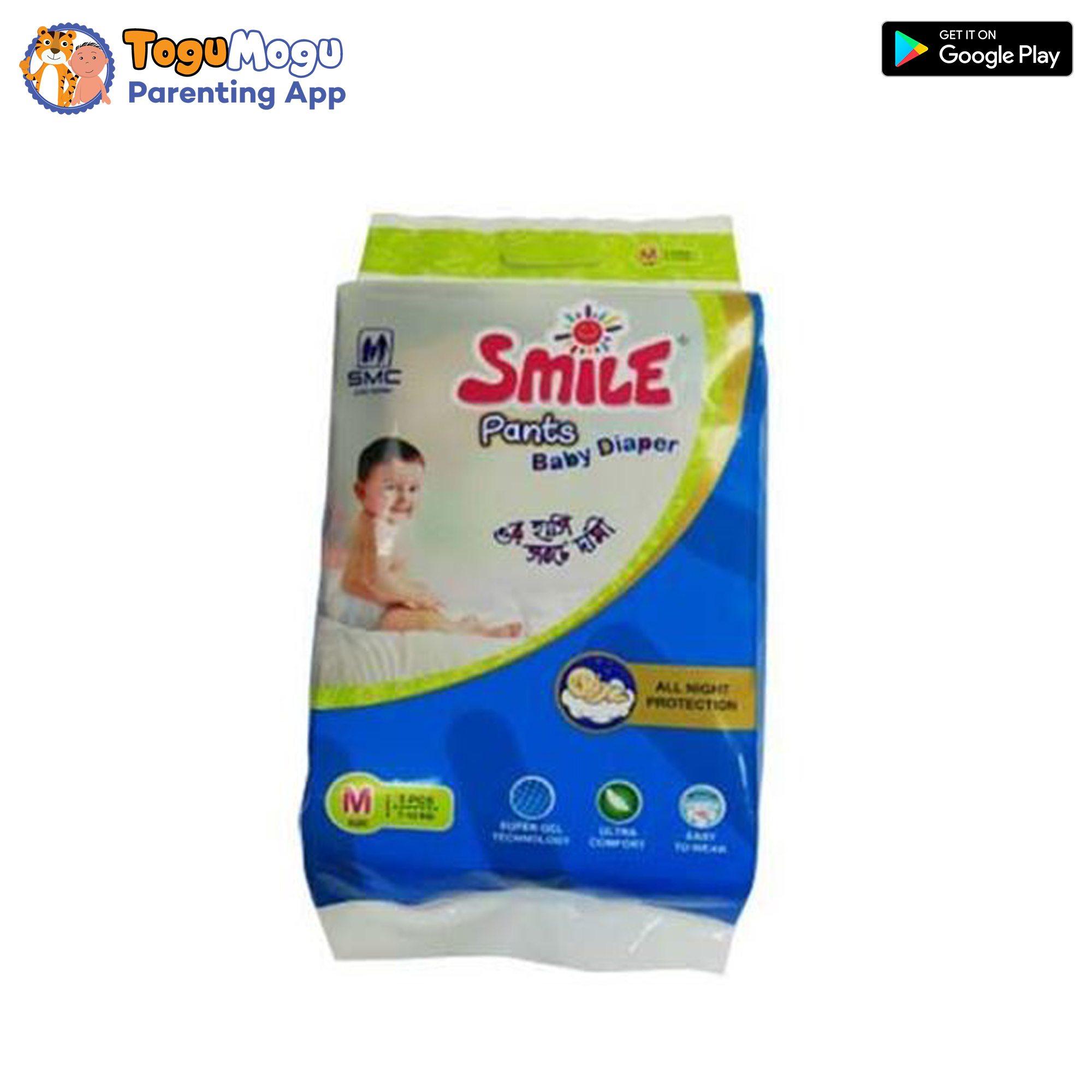 SMC Smile Baby Diaper Pant 7-12 kg (M) 5 Pieces