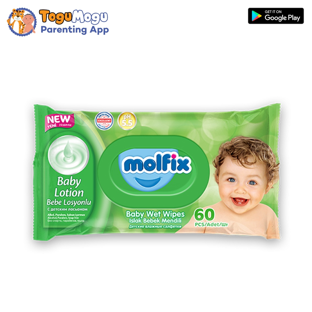 MOLFIX WET WIPES Wipes with Lotion (LID) 60 pcs