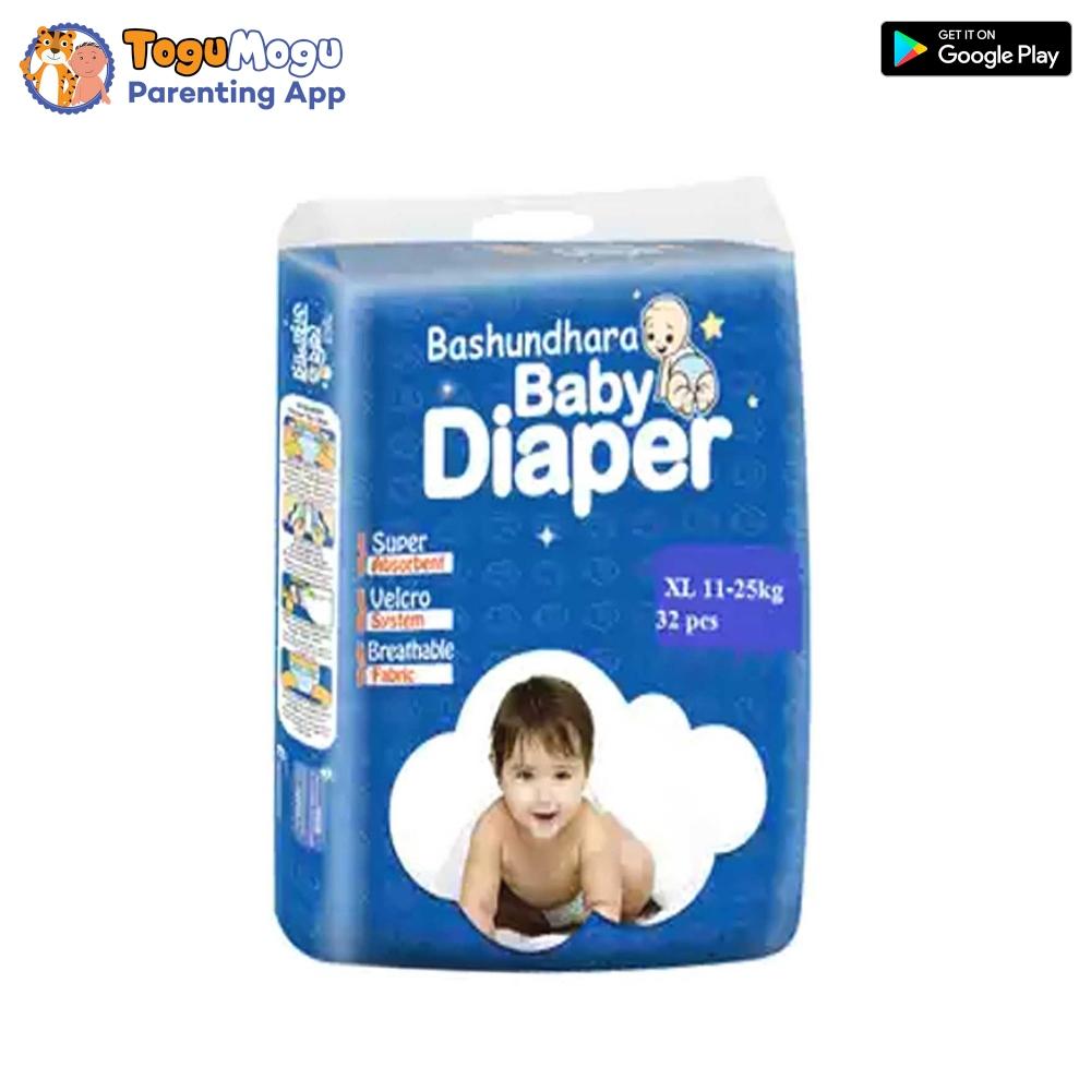 Bashundhara Baby Diaper Belt XL 11-25 kg 32 pcs