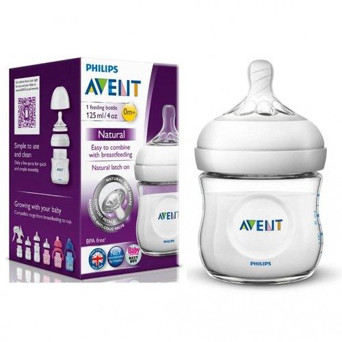 Avent Natural Feeding Bottle (125 ml)