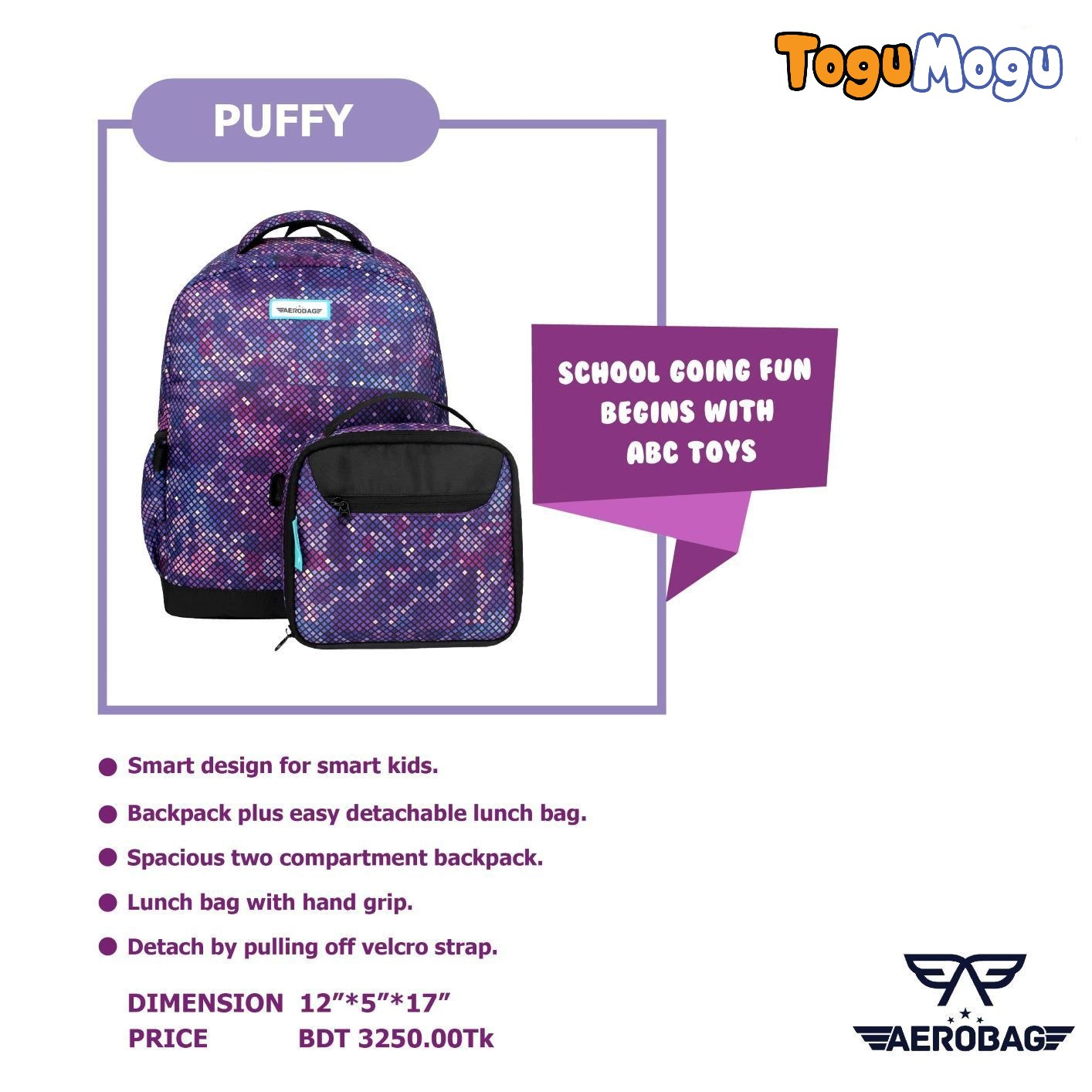 AEROBAG AER052 Puffy Purple