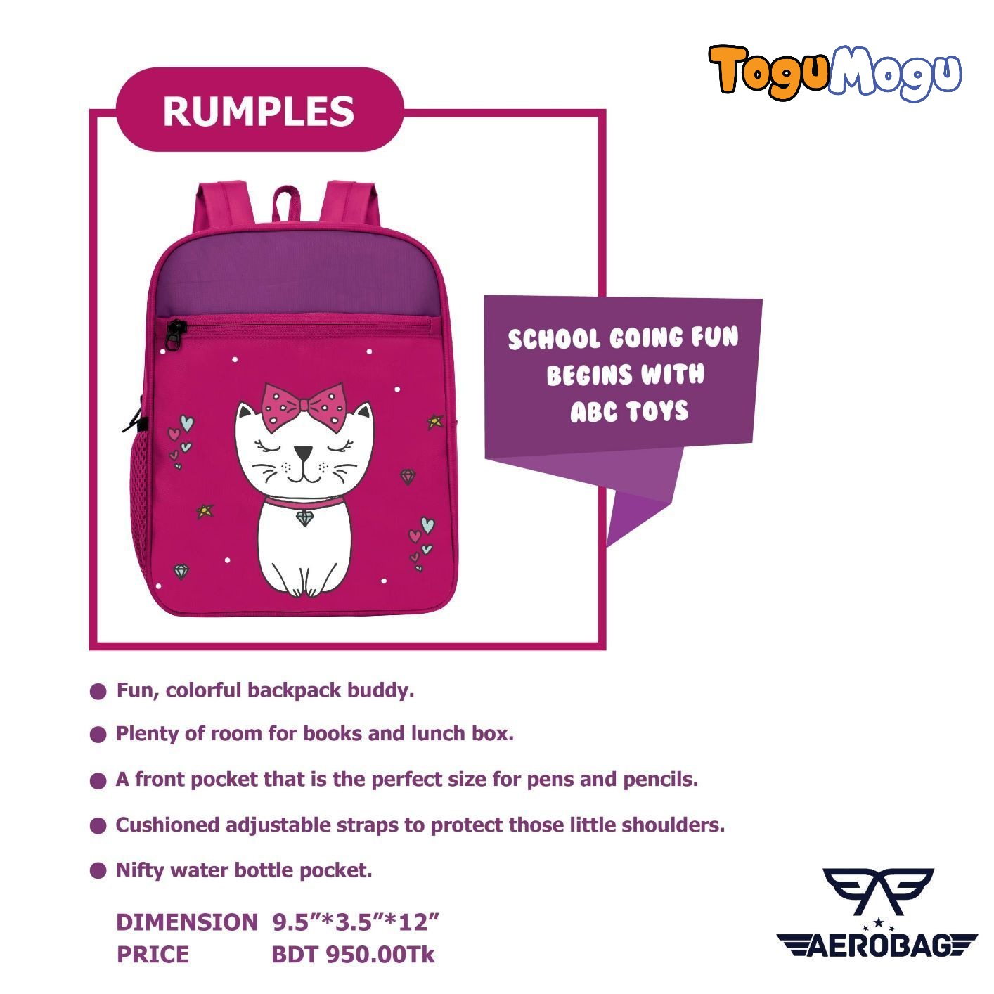 AEROBAG AER002 Rumples Kitty