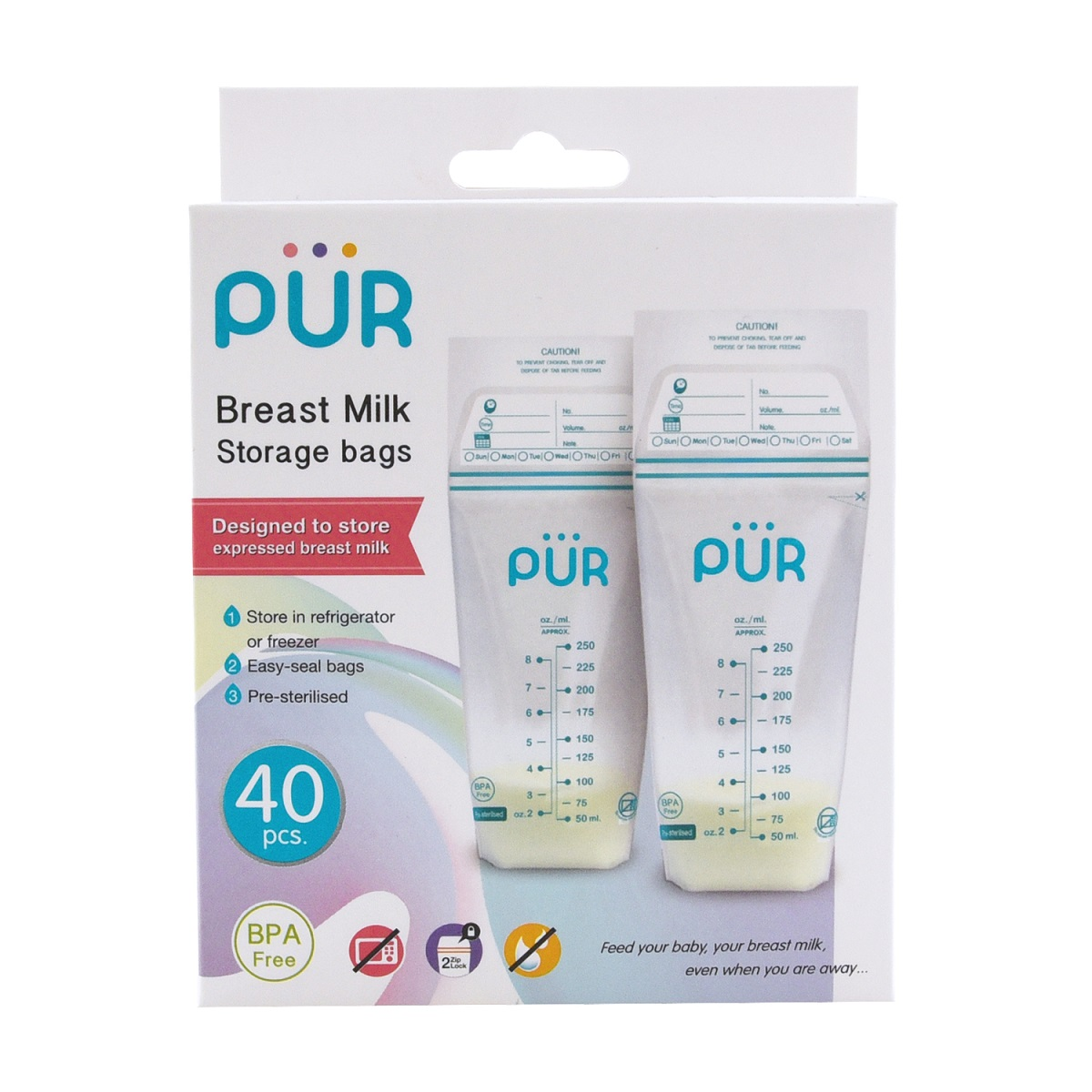 Pur Breast milk storage bags – 40 bags (6202)