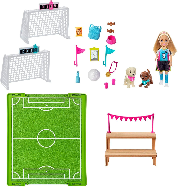 Barbie GHK37 Chelsea Soccer Playset