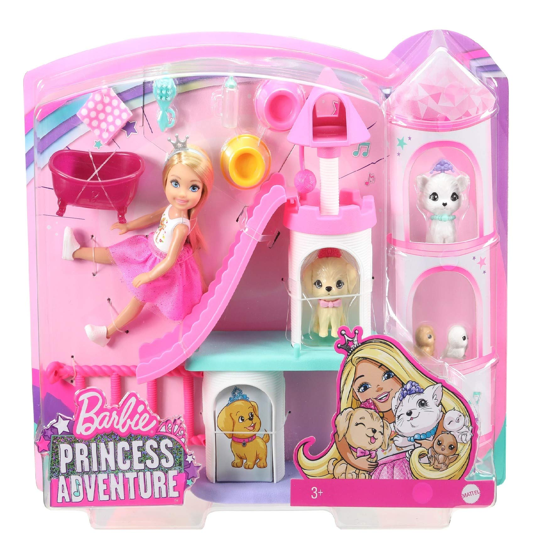 Barbie GML71 Princess Adventure Chelsea Doll and Pet Castle Play Set
