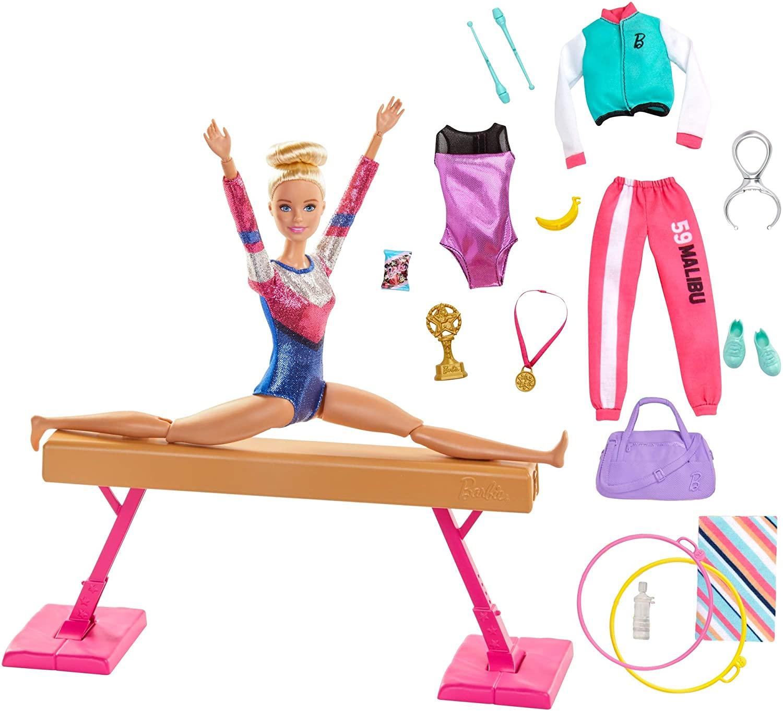 Barbie GJM72 Gymnastics Doll and Playset
