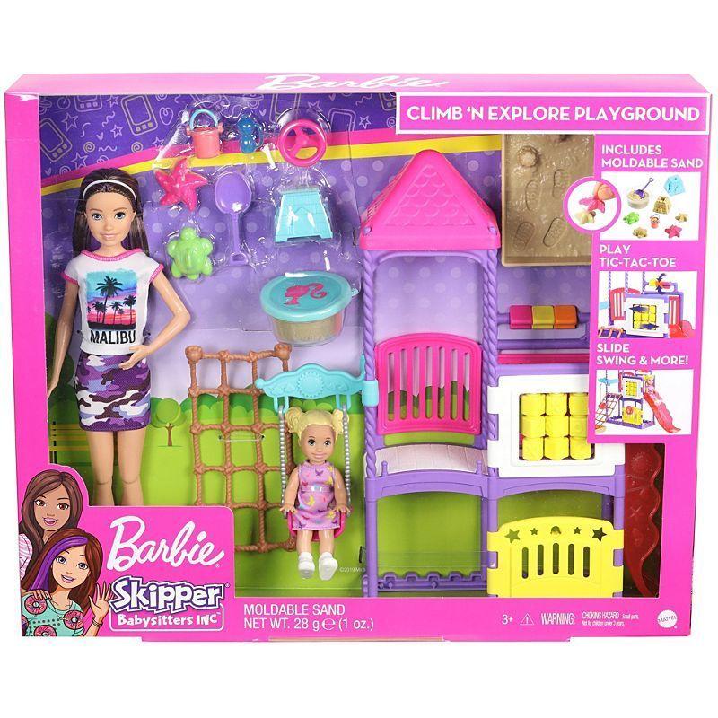 Barbie GHV89 Skipper Babysitters Playground Dolls & Play Set