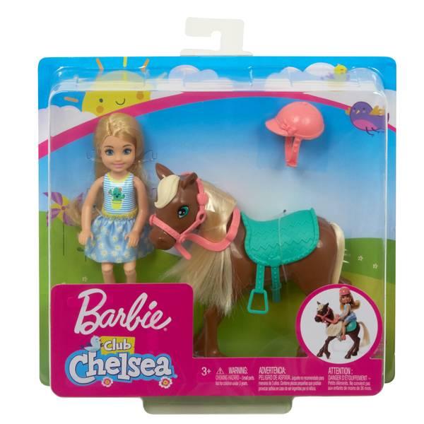 Barbie GHV78 Club Chelsea Doll & Pony Playset