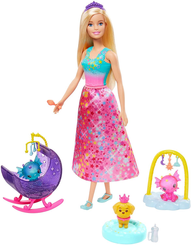 Barbie GJK49(GJK51)Dreamtopia Dragon Nursery Play Set Princess Doll