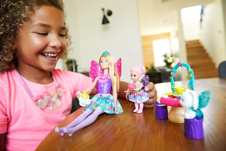 Barbie GJK49(GJK50)Dreamtopia Tea Party Play Set Fairy Doll