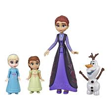 Disney Frozen E5504(E6913)Family Set Elsa and Anna Dolls with Queen Iduna Doll and Olaf Toy