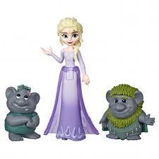 Disney Frozen E5509(E7078)Elsa Small Doll With Troll Figures