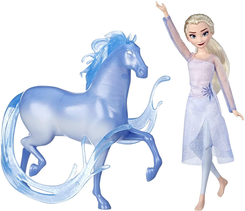 Disney E5516 Frozen Elsa Fashion Doll and Nokk Figure Inspired by Frozen 2