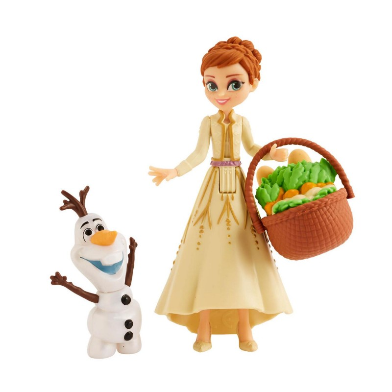 Disney Frozen E5509(E7079) Anna and Olaf Small Dolls With Basket Accessory