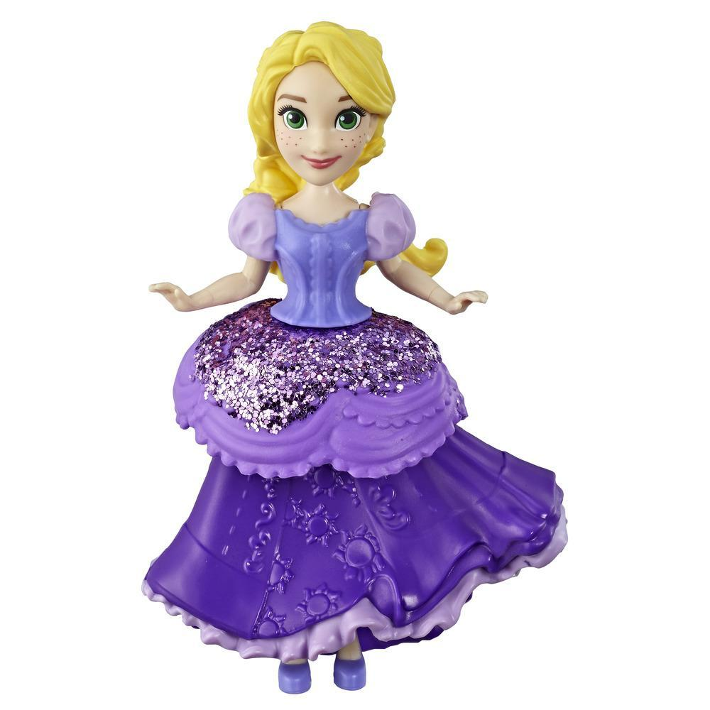 Disney E4863 Princess Rapunzel Collectible Doll With Glittery Purple One-Clip Dress, Royal Clips Fashion Toy