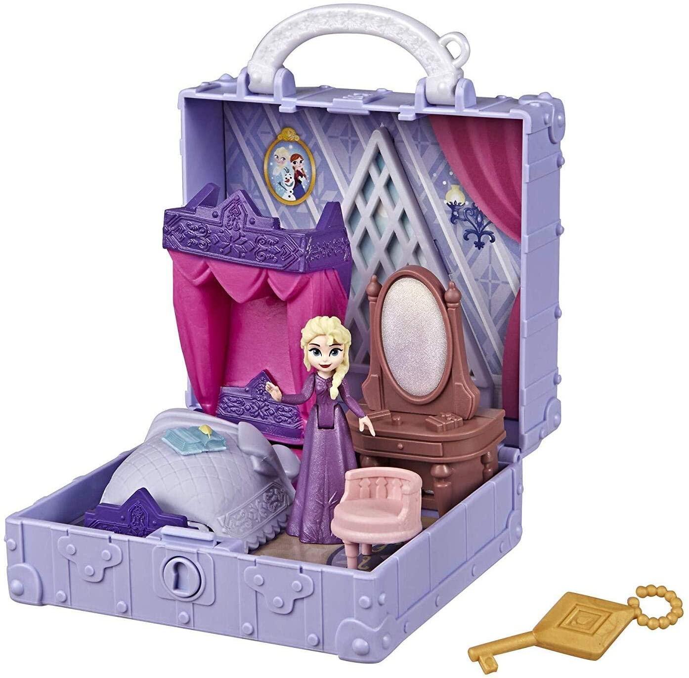 Disney E6545 Frozen Pop Adventures Elsa's Bedroom Pop-up Playset With Handle