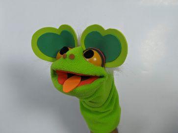 Hand Puppet Green Frog
