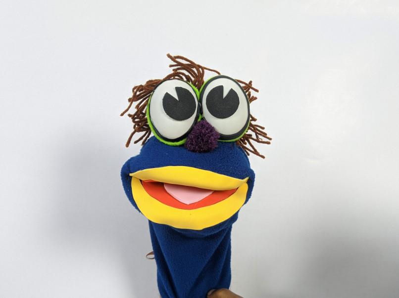 Hand Puppet Blue Todd