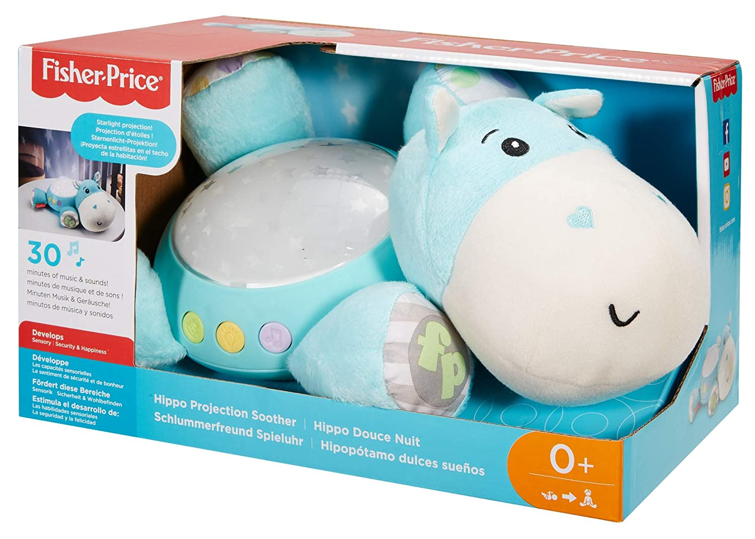 Fisher Price CGN86 Hippo Projection Soother